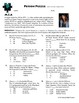 Person Puzzle -- Arithmetic Sequences - M.I.A Worksheet
