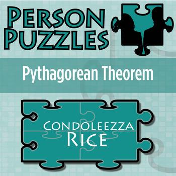 Person Puzzle -- Pythagorean Theorem - Condoleezza Rice Worksheet