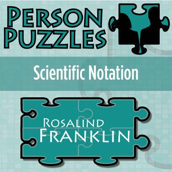 Person Puzzle -- Scientific Notation - Rosa Parks Worksheet