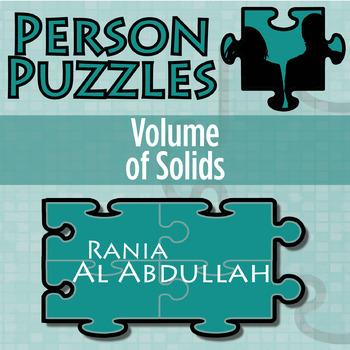 Person Puzzle -- Volume of Solids - Rania Al Abdullah Worksheet