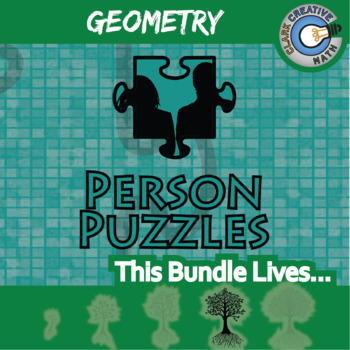 Person Puzzle - GEOMETRY BUNDLE - 30+ Topics, 30+ Worksheets