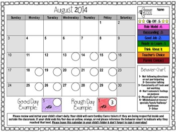 Customizable Behavior Clip Chart, PBIS, PBS