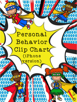 Personal Behavior Clip Chart - Phone version (Super Hero)