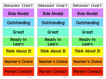Personal Behavior Clip Charts
