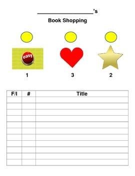 Personal Book Shopping Guide/Organizer