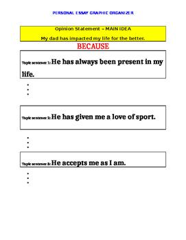 Personal Essay Graphic Organizer