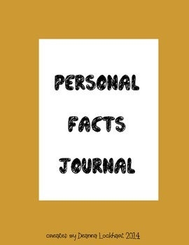 Personal Facts Journal