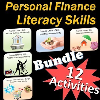 Personal Finance Literacy Skills Lesson Bundle
