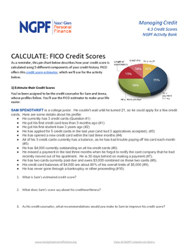 Personal Finance Project: Calculate Credit Scores