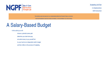 Personal Finance Project: Create a Salary-Based Budget