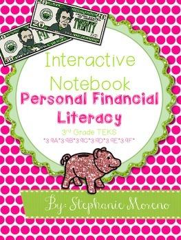 Personal Financial Literacy Interactive Notebook {Grade 3}