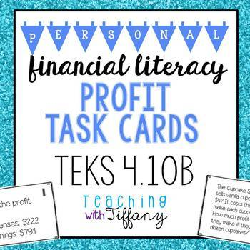 Personal Financial Literacy TEKS 4.10B Profit Task Cards