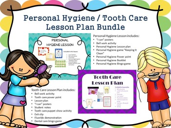 Personal Hygiene Lesson Plan Bundle