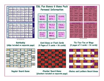 Personal Information 6 Board Game Bundle