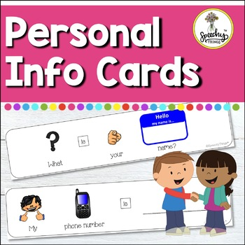 Personal Information - Adapted Cards