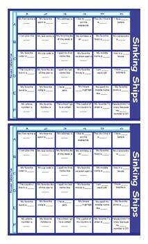 Personal Information Battleship Board Game