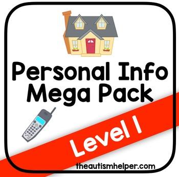 Personal Information Mega Pack {Level 1}