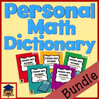 Personal Math Dictionary Bundle