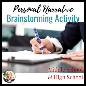 Personal Narrative Essay Brainstorming Activity
