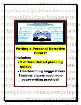 Personal Narrative Essay Planner Pages (for informational