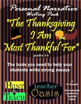 "Personal Narrative Essay ""The Thanksgiving I Am Most Thank"