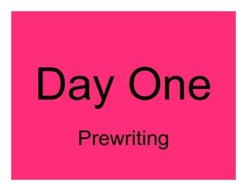 Personal Narrative - Launching Writer's Notebook Prewritin