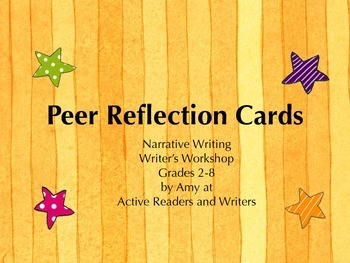 Personal Narrative Peer Reflection Cards
