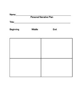 Personal Narrative Planning/Writing Organizer, Feedback an