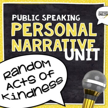 Personal Narrative Public Speaking Unit  -- 50 Pages/Slide