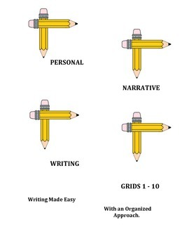 Personal Narrative Writing Grids 1 - 10