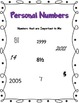 Personal Numbers