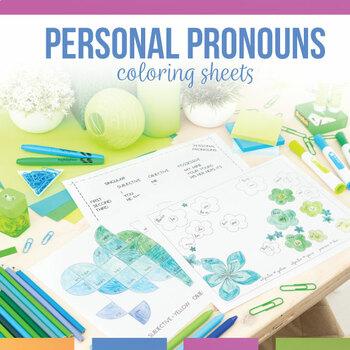 Personal Pronoun Forms Coloring Sheet