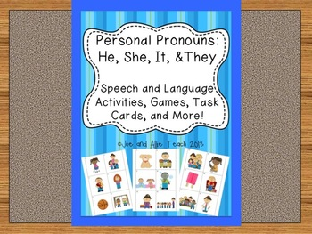 Personal Pronouns: He, She, It, and They [Speech and Langu