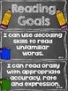 Reading Goals Clip Chart - 4th Grade