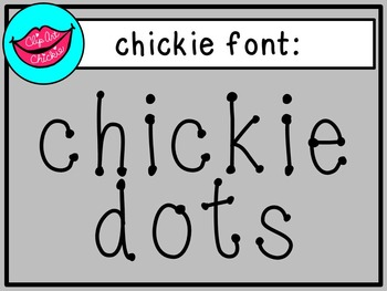chickie dots font - for personal use