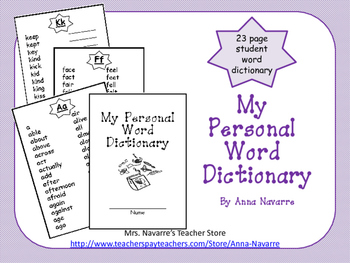 Personal Word Dictionary