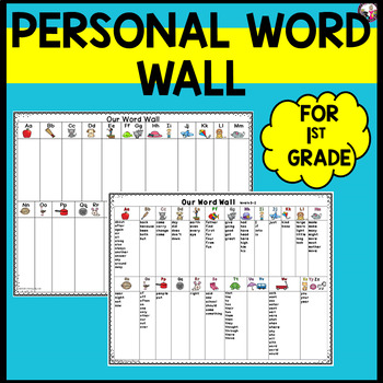 Personal Word Wall for First Graders! High Frequency & Sig