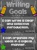 Writing Goals Clip Chart - 5th Grade
