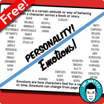 Personality Vs. Emotions Cheat Sheet Freebie