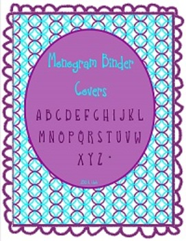Personalized Binder Covers - Monograms for binders, banner