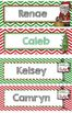 Personalized Christmas Bookmarks OR Name Plate, EDITABLE -