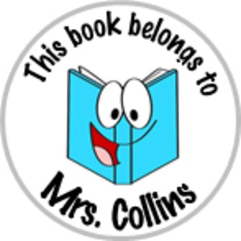 Classroom Library ID Stickers Personalized for Your Classroom