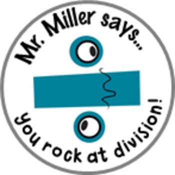 Division Math Achievement Stickers - Personalized For Your