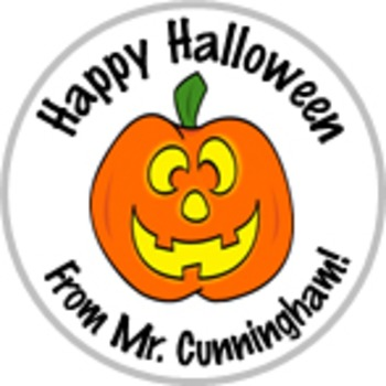 Personalized Pumpkin Halloween Stickers Great for Parties
