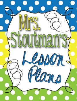 Personalized Lesson Plan Binder Cover