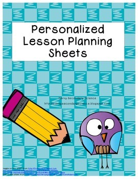 Personalized Lesson Planning Sheets Printed and Bound