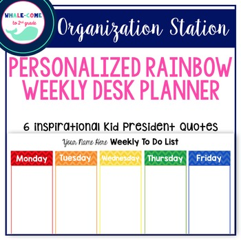 Personalized Desk Planner