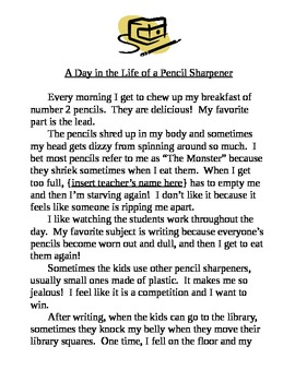 Worksheets 2nd Grade Stories personification a day in the life sample by maggie meadows story