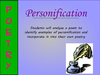 Personification Poetry Mini-Lesson (ActivInspire)