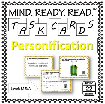 Personification Task Cards for Middle Grades